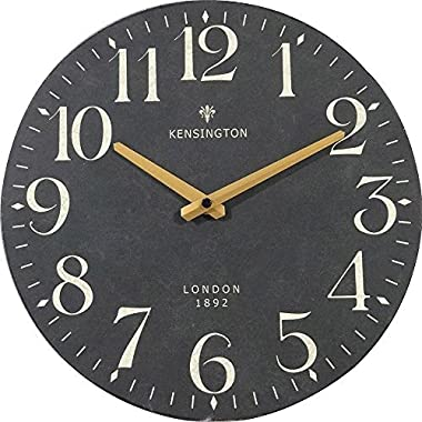 NIKKY HOME Wall Clock Silent Quartz Analog Round x 12''