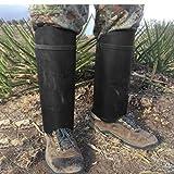 Polainas Polainas De Cuero De Lujo Para Hombres Polainas De Cuero Steampunk Senderismo Accesorios Para Disfraces Fundas Para Zapatos Para Escalar Esquiar Hacer Senderismo (Size:42x20cm; Color:Black)