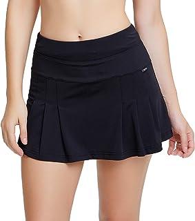siyecaoo Falda Pantalón Deportiva de Tenis para Mujer Cintura Alta Falda para Correr Secado rápido Yoga Corto con Bolsillo...