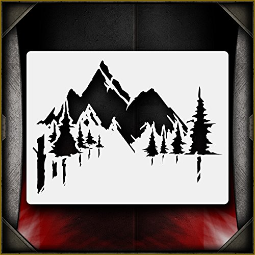 "/""Brick Background/"" Airbrush Stencil Template Airsick"