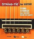 Tenor String-Tie Tailpiece BridgeBeads Set for Classical or Flamenco Spanish Guitar, AMBER Color Bridge Beads.