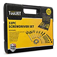 GREAT VALUE FOR MONEY: A good set of screwdrivers is one of the most useful items to have in your toolbox. The comprehensive Tuulkit 32-piece screwdriver, socket and bit set contains Flat-head screwdrivers, Cross-head screwdrivers, Slot-head screwdri...
