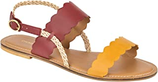 Chumbak Braided Scalloped Strap Sandals