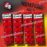 40 AG7 NEMT Cell Knopfzellen Knopfbatterien Uhrenbatterien LR927, LR57, 195, 395 1,5V