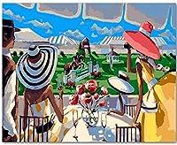 大人のための数字によるDIYオイルペイント初心者キャンバス抽象芸術子供絵画アクリルキット生きている群衆トレーニング馬40x50cm