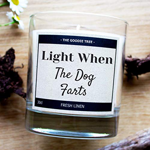 Light When The Dog Farts Scented Candle - Free UK Delivery- Free Gift Box - Funny Gift Idea