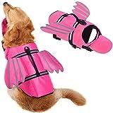 Zwemvest Voor Honden, Uniek Ontwerp Met Vleugels Ontwerp Voor Zwemvest Voor Honden, Reddingsboei Voor Honden, Reddingsboei Met Handvat Voor Zwemmen, Zwembad, Strand, Varen Voor Grote Honden,Pink,XS