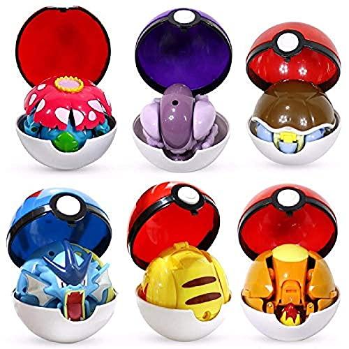 Qwead 6 Stück Pokemon Figuren Spielzeug...