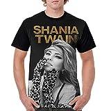 Shania Twain Shirt Custom Men Short Sleeve Round Neck Crewneck T-Shirt Black