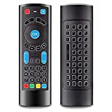 Fire Stick Remote Control Replacement & QWERTY Keyboard Bluetooth Controller with Power Volume Number Mute Infrared Programmable Buttons Controller(NO Backlit)