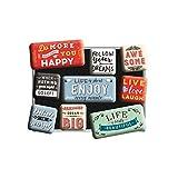 Nostalgic-Art 83111 Retro Kühlschrank-Magnete Word Up – Enjoy Life –...