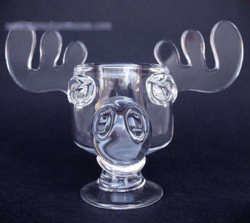 Original Elchglas Canadian Moose Mug Kanada vom Original Künstler handgemacht aus Schöne Bescherung National Lampoons Christmas Vacation schweres Glas aus einem Guß inklusive offizieller Weihnachtsmütze aus dem Film