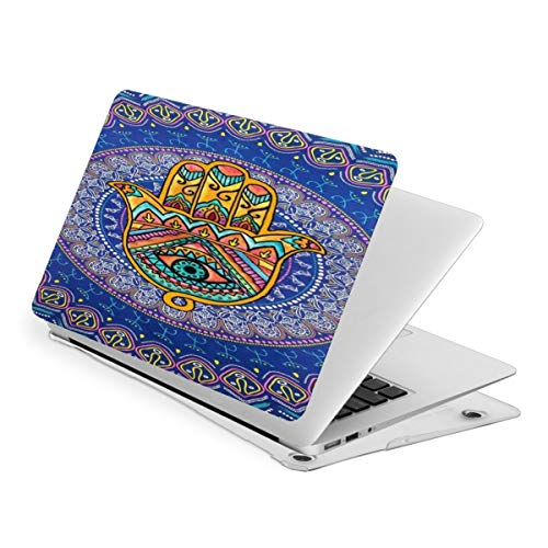 Laptop Case for MacBook Gold Hamsa Hand and Tribal Aztec Laptop Computer Hard Shell Cases Cover (New Air13 / Air13 / Pro13 / Pro15)