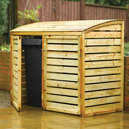 Rowlinson BINLRG1 Double Bin Store, Natural Timber, 2