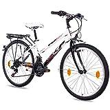 KCP 24 Zoll Kinderfahrrad - Wild Cat Lady - Mädchenfahrrad mit 18 Gang Shimano Kettenschaltung - Fahrrad für Kinder zwischen 9-13 Jahre und 1,40m bis 1,60m Körpergröße