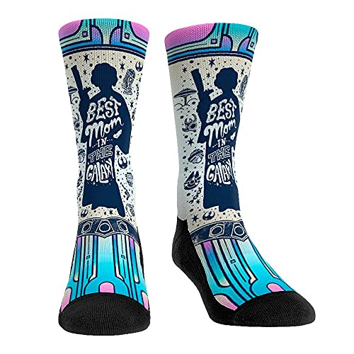 Star Wars Fun Holiday Gift Socks (Small/Medium, Princess Leia - Best Mom in the Galaxy)
