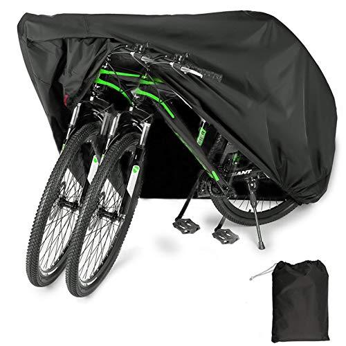 YZCX Housse de Vélo, Housse de Bicyclette Imperméable Polyester Oxford Haute Qualité Convient Aux Vélos et Aux Scooters. Peut Couvrir Jusqu'à Deux Vélos