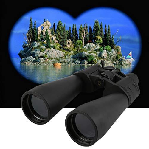 YSHTAN Fernglas für Kletter- und Wanderausrüstung, Teleskop, verstellbar, 20-180 x 100 Zoom, leicht, Nachtsicht, Reisefernglas – Schwarz