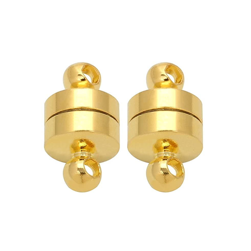 Linsoir Beads 10 Sets Small Magnetic Barrel Clasps Magnetic Fasteners Perfect for Arthritis Person 6mmX11mm Gold Finish a731475812