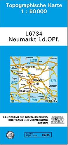 TK50 L6734 Neumarkt i.d.OPf: Topographische Karte 1:50000 (TK50 Topographische Karte 1:50000 Bayern)