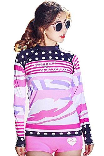 Fortuning's JDS® 2016 Protection UV UPF 50+ T-Shirt à Manches Longues imprimé Piscine de plongée numérique