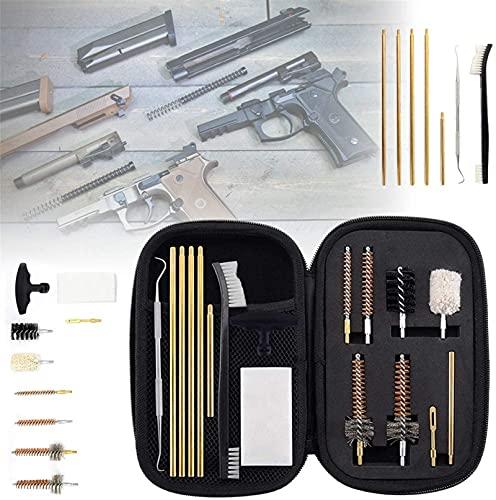 wsbdking Kit de Limpieza de 7,62 mm, Pro.223/5.56 .30/7.62 Kits de Limpieza de Pistola de Rifle, con Pinceles de cámara de perforación Kit de selección de Metal Barra de Limpieza de latón, Regalo
