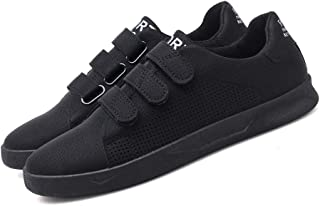 AUCDK Men Summer Breathable Sneakers Low Top Casual Flats Hook and Loop Sports Shoes Fashion Sneakers