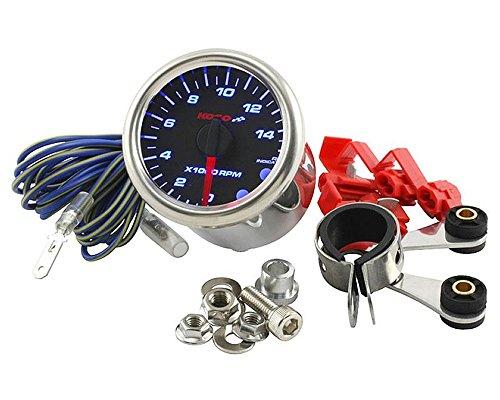 Drehzahlmesser KOSO GP-Style Analog Rund Schwarz 15.000RPM