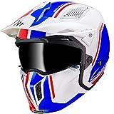 Mt Helmets Streetfighter SV Twin B7 Gloss Pearl Blue S
