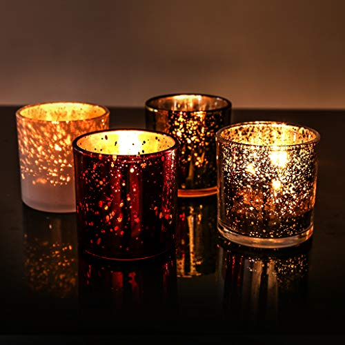 LANGRIA Jar Scented Candle Set, 4 Oz Pure Soy Wax...