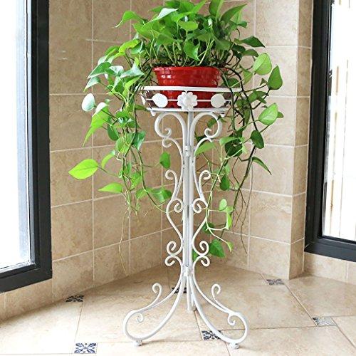 Support de fleurs en fer, sol en plancher, salon de fleur, étagère verte ( taille : 34cm )