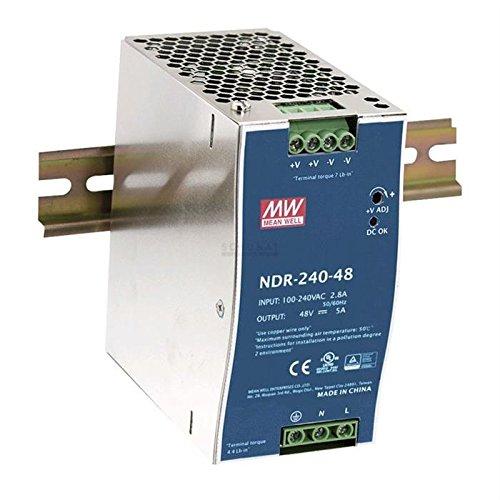 Preisvergleich Produktbild Hutschienen Netzteil 240W 48V 5A ; MeanWell NDR-240-48 ; DIN-Rail Trafo