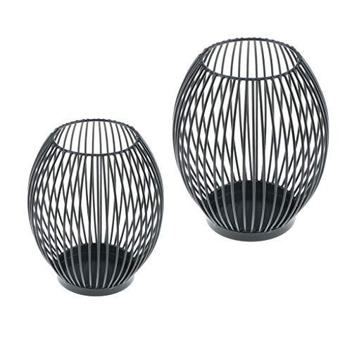 F Fityle L + S Oval Draht Kerzenhalter Teelichthalter Votivkerzen Halter Ständer Ornament