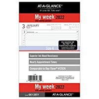 AT-A-GLANCE 2022 ウィークリープランナー リフィル 12028 デイタイマー 5-1/2インチ x 8-1/2インチ サイズ4 (061-285Y)