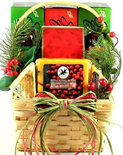 Summer Sausage and Seasonal Snacks Meat and Cheese Gift Set   Men's Christmas Gift Idea