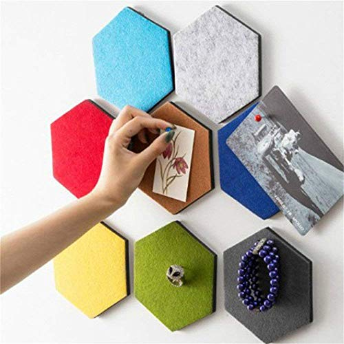 BANNAB 3D Felt Hexagon Board Tiles with Full Sticky Back,Create Your Very Own Wall Bulletin Board Anywhere in Your Home to Create a Handy Place to Keep Notes Photos - 1 PCS