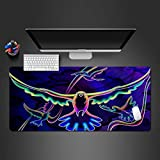 alfombrilla de ratón gaming Alfombrilla de Ratón Grande Gaming Mouse Pad XXL 800x400x3mm Pájaro de color azul Microfibras Alfombrilla Base de Goma Antideslizante para Gamers, Oficina, PC, Portátil, Or