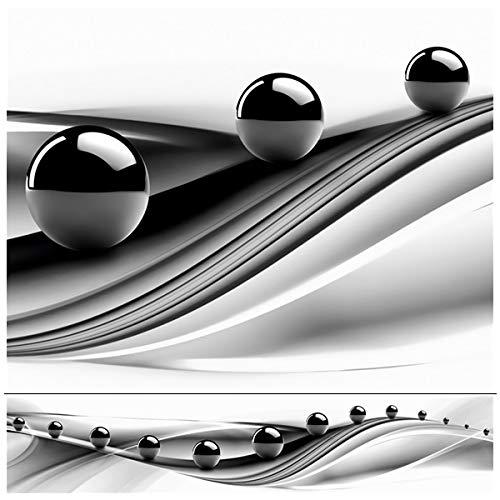 Rodnik Design -Küchenrückwand -60x300 cm -Abstrakt - schwarz weiß- Spritzschutz -Verschiedene Motive(Schwarze Kugeln)