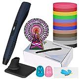 Uzone 3D Stift, Intelligenter 3D Druck Stift mit PLA Filament, Kompatibel mit PLA und ABS, Einstellbare Temperatur 8 Gang Modi und LCD Display für Kunsthandwerk, Erwachsene und Kinder