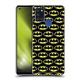 Head Case Designs Oficial Batman DC Comics Patrones Logotipos Carcasa rígida Compatible con Samsung Galaxy A21s (2020)