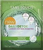 Sans Soucis'DAILYDETOX' Vliesmaske: Gesichtsmaske mit Fruchtextrakten und Vitaminen, regeneriert gestresste Haut, schützt vor freien Radikalen, vegan