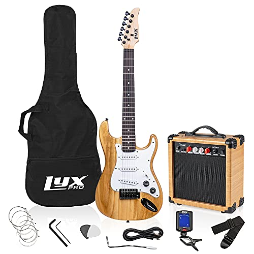 LyxPro 36 Inch Electric Guitar and Kit for Kids with 3/4 Size Beginner's Guitar, Amp, Six Strings,...