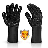 Vemingo BBQ Gloves, 1472 ℉ Extreme Heat Resistant Grilling Gloves - Up to