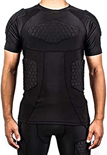 TUOYR Padded Compression Shirt Chest Protector Undershirt for Football Soccer Paintball Shirt