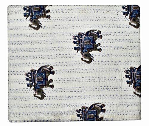 GANESHAM - Funda para sofá de estilo indio para decoración del hogar, hecha a mano, estilo bohemio y bohemio, hecha a mano, 90 x 108 pulgadas