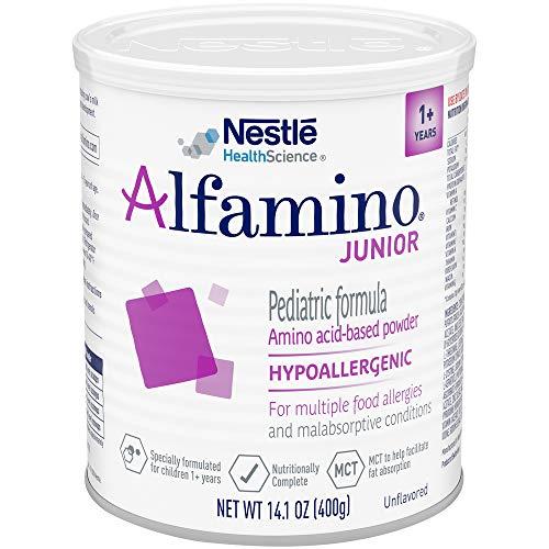 Alfamino Junior Amino Acid Based Pediatric Formula, Unflavored, 14.1 oz Canister
