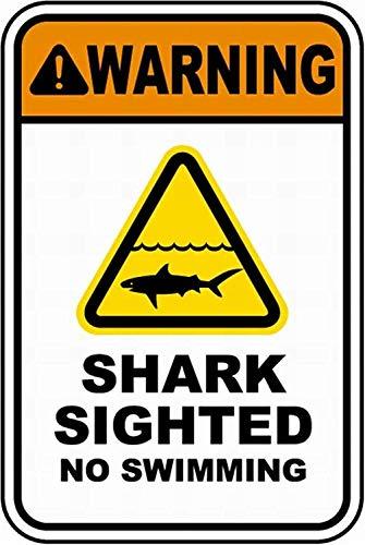 mengliangpu8190 haai zag geen zwemmen veiligheid teken kennisgeving teken waarschuwing teken 8