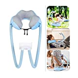 AIMI Neck Pillow Phone Holder, Cell Phone Holder, Suitable for Home,Travel, Outdoor,Comfort, Stability, Durability, Support Phone and ipad (Blue)