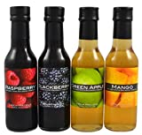 Infused Balsamic Quartetto - Raspberry, Blackberry, Green Apple & Mango (Pack of 4 x 150ml)