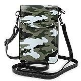 Crossbody bolso de cuero de la PU de las mujeres del camuflaje del monedero del teléfono celular con la correa ajustable
